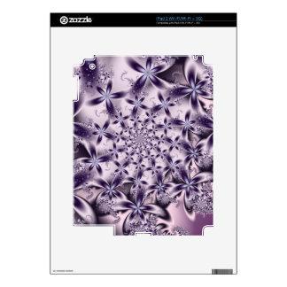 Soft Purple Flowers iPad 2 Decals