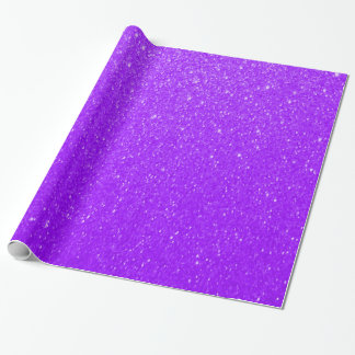 Soft Purple Glitter Prints Wrapping Paper