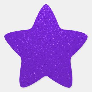 Soft Purple Glitter Star Sticker