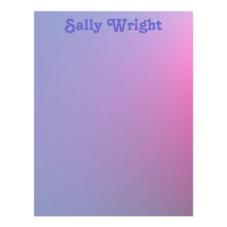 Soft Purple Letterhead