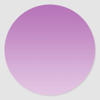 Soft Purple Ombre Classic Round Sticker