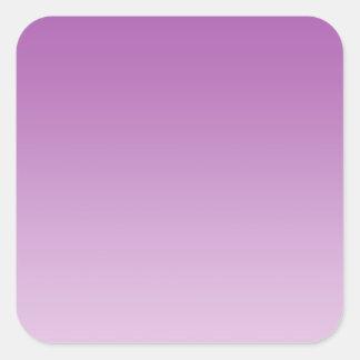 Soft Purple Ombre Square Sticker