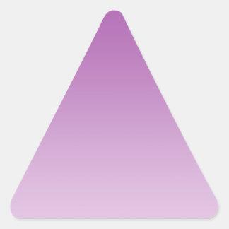 Soft Purple Ombre Triangle Sticker