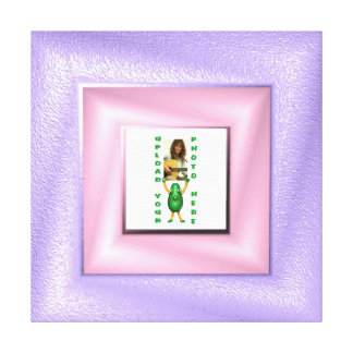 Soft purple photo frame canvas wrapped frame