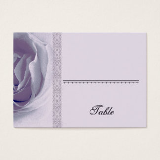 Soft PURPLE Rose Place Card - Wedding Party