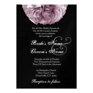 SOFT PURPLE Rose Wedding Invitation