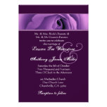 Soft Purple Rose Wedding Template H438 Personalized Announcement