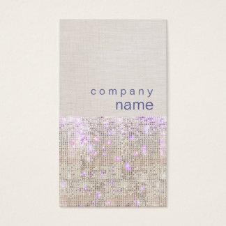 Soft Purple Silver Sequins Beauty Stylist Business Card