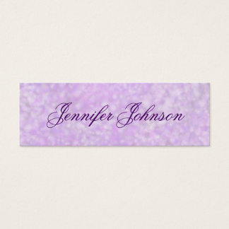 Soft Purple Watercolor Skinny Profile Cards