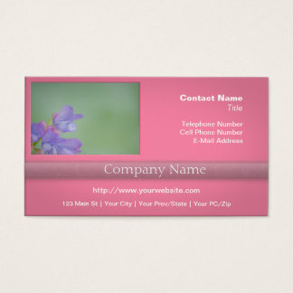 Soft Purple Wild Flowers with a Green Background Business Card