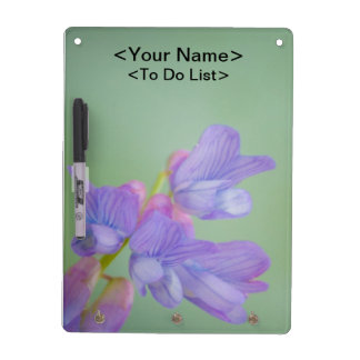 Soft Purple Wild Flowers with a Green Background Dry-Erase Board