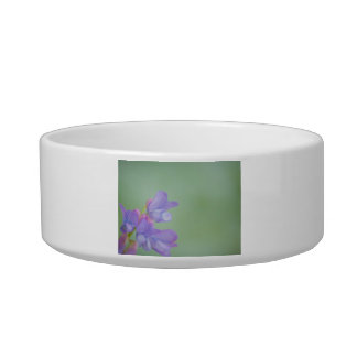Soft Purple Wild Flowers with a Green Background Cat Water Bowls