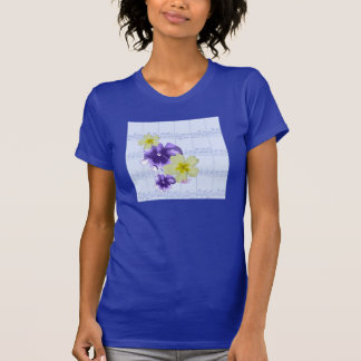 Soft Purple & Yellow Flowers Sheet Music Lapis Tee