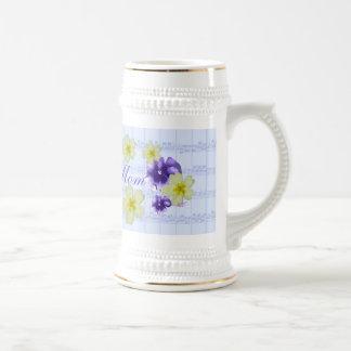 Soft Purple & Yellow Flowers Sheet Music Mom Mug