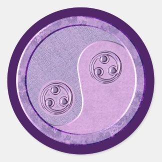 Soft Purple Yin Yang Classic Round Sticker