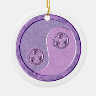 Soft Purple Yin Yang Ornament