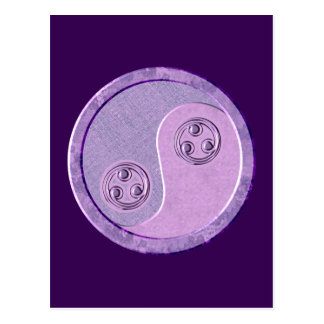 Soft Purple Yin Yang Postcard