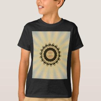 """Soft Radiating Yellow """"Spirit"""" Mandela Pattern T-Shirt"""