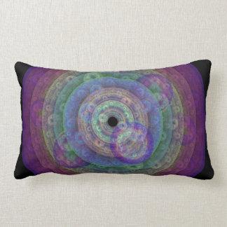 Soft Rainbow Circles Lumbar Pillow