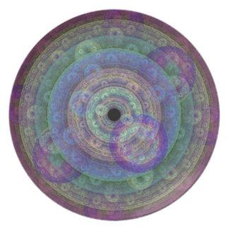 Soft Rainbow Circles Plate