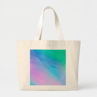 Soft Rainbow Colored Sky Large Tote Bag