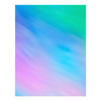Soft Rainbow Colored Sky Letterhead