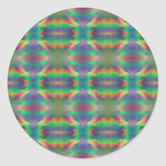 Soft Rainbow Lights Bands Abstract Design Classic Round Sticker