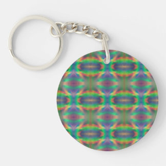 Soft Rainbow Lights Bands Abstract Design Keychain