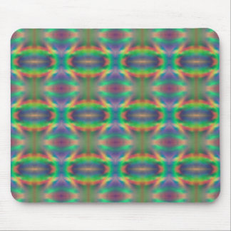 Soft Rainbow Lights Bands Abstract Design Mouse Pads