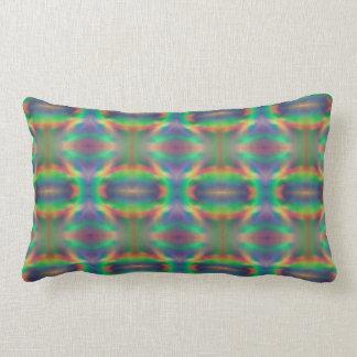 Soft Rainbow Lights Bands Abstract Design Pillow