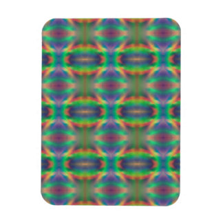 Soft Rainbow Lights Bands Abstract Design Vinyl Magnet