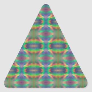 Soft Rainbow Lights Bands Abstract Design Triangle Sticker