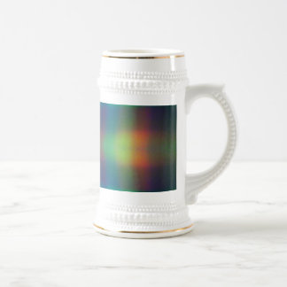 Soft Rainbow Lights Squares Abstract Design Beer Stein