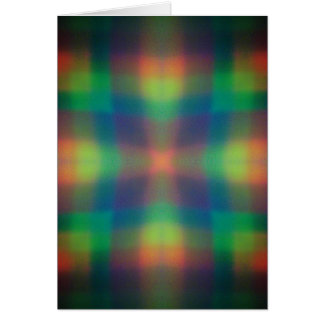 Soft Rainbow Lights Squares Abstract Design Card