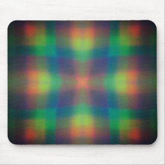 Soft Rainbow Lights Squares Abstract Design Mouse Pads