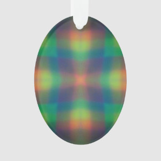 Soft Rainbow Lights Squares Abstract Design Ornament