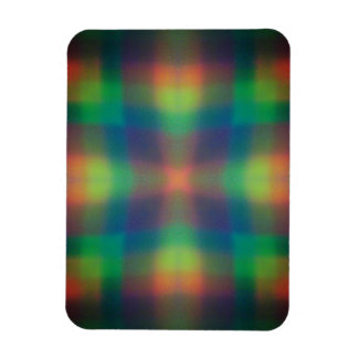 Soft Rainbow Lights Squares Abstract Design Flexible Magnets