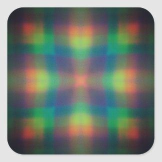 Soft Rainbow Lights Squares Abstract Design Square Sticker