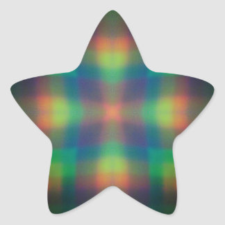 Soft Rainbow Lights Squares Abstract Design Star Sticker