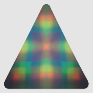 Soft Rainbow Lights Squares Abstract Design Triangle Sticker