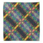 Soft Rainbow Lights Stripes Abstract Design Bandana