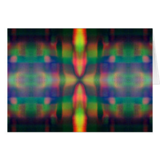 Soft Rainbow Lights Stripes Abstract Design Card