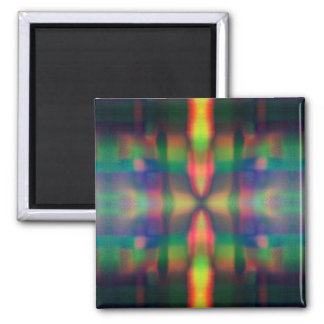 Soft Rainbow Lights Stripes Abstract Design Fridge Magnets
