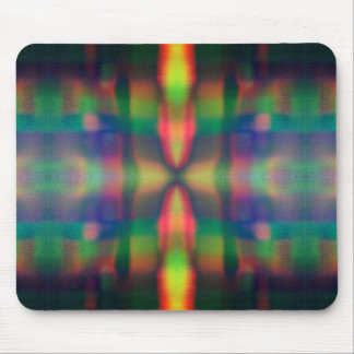 Soft Rainbow Lights Stripes Abstract Design Mousepad