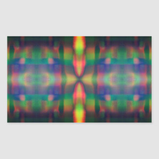 Soft Rainbow Lights Stripes Abstract Design Rectangular Sticker