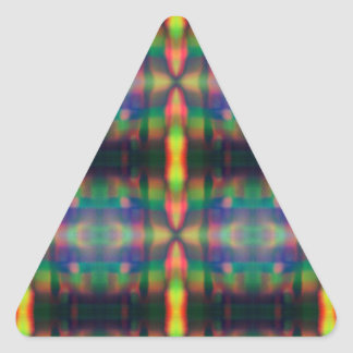 Soft Rainbow Lights Stripes Abstract Design Triangle Sticker