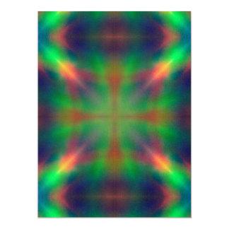 Soft Rainbow Lights X Shaped Abstract Design Card