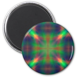 Soft Rainbow Lights X Shaped Abstract Design Magnet