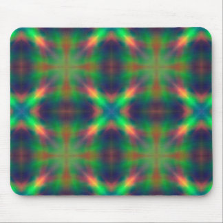 Soft Rainbow Lights X Shaped Abstract Design Mouse Pads