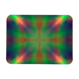 Soft Rainbow Lights X Shaped Abstract Design Magnets
